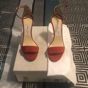 Size 7. Red Jimmy Choo